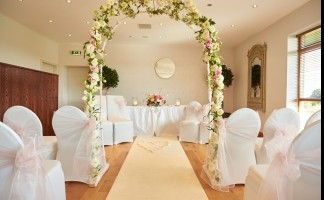 Civil Ceremony Room - Standard Set Up with Arch