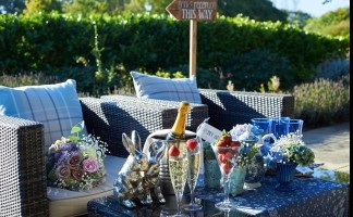 Private Terrace - Seating Area with Champagne